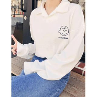 ホッピン(HOTPING)のキャラクター刺繍カラーシャツ(シャツ/ブラウス(長袖/七分))