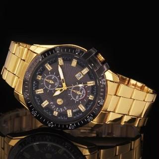 再入荷!【 ゴールデン × ブラック】高級 メンズ 腕時計黒 新品 (腕時計(アナログ))
