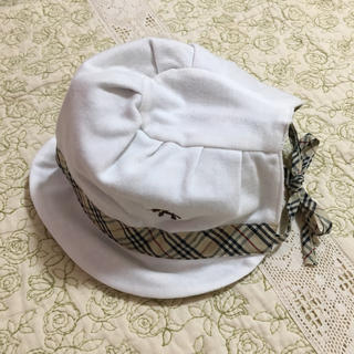 ベルメゾン - クマちゃん刺繍  チェック帽子  44cm  ベルメゾン  レモール