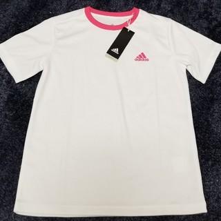 アディダス(adidas)のadidasアディダス 150cm ロゴ入り半袖Tシャツ 定価2149円(Tシャツ/カットソー)
