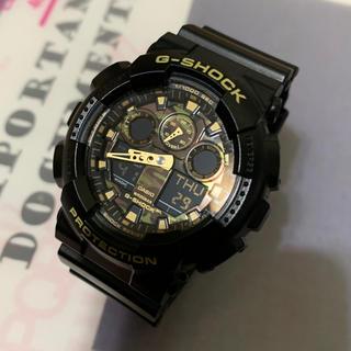 ジーショック(G-SHOCK)の極美品 CASIO 腕時計 G-SHOCK GA-100CF 迷彩ゴールド(腕時計(デジタル))