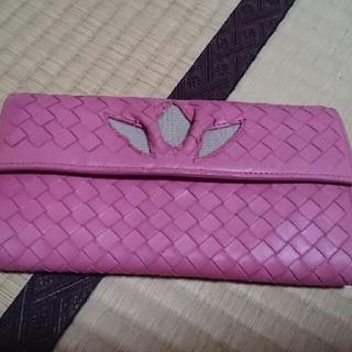 ボッテガヴェネタ(Bottega Veneta)のボッテガ・ヴェネタ イントレチャート 二つ折り長財布 フラワー(財布)