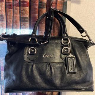 コーチ(COACH)の美品 COACH 約5.5万 2wayフルグレインレザーバッグ(ショルダーバッグ)