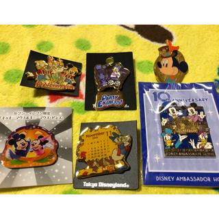 Disney - ディズニー ピンバッジ 6点セット