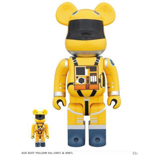 MEDICOM TOY - BE@RBRICK SPACE SUIT YELLOW  100%&400%