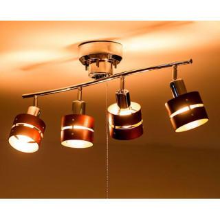シーリングライト LED対応 スポットライト 4灯 連 照明器具 リビング