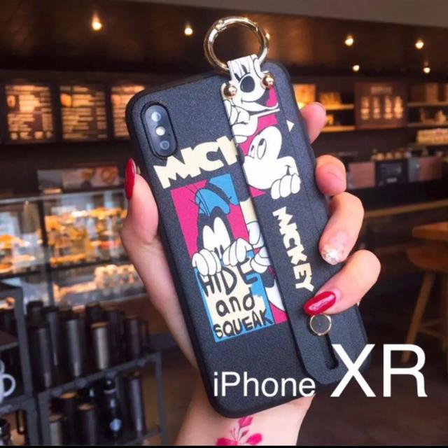 【新品】ディズニー ミッキー ハンドベルト付き iPhone XRケースの通販 by kaz@iPhone |ラクマ