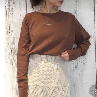 フーズフーチコ(who's who Chico)のフーズフーチコ     刺繍ロンT(Tシャツ(長袖/七分))