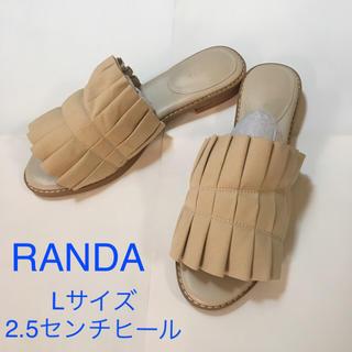 ランダ(RANDA)の【送料込み】RANDA ローヒール サンダル 新品未使用(サンダル)