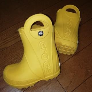 クロックス(crocs)のキッズ☆crocsクロックス☆14㎝レインシューズ長靴☆レインブーツC6(長靴/レインシューズ)