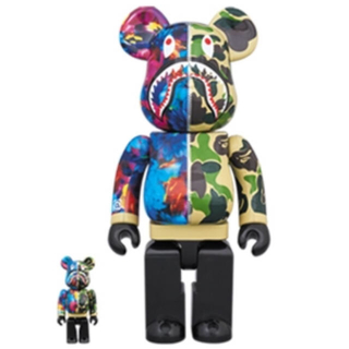 A BATHING APE - BE@RBRICK BAPE®× M  100%&400%