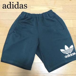 アディダス(adidas)の90s アディダスオリジナルス ハーフパンツ 黒 デサント製 トレフォイル (ショートパンツ)