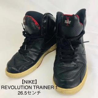 ナイキ(NIKE)の【NIKE】REVOLUTION TRAINER 1  26.5センチ 黒&赤(スニーカー)