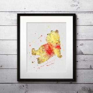 ディズニー(Disney)の日本未発売!くまのプーさん・アートポスター【額縁つき・送料無料!】(ポスター)