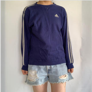アディダス(adidas)のadidas ラインスウェット(Tシャツ/カットソー)