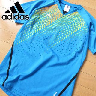 アディダス(adidas)の超美品 Mサイズ アディダス climacool メンズ 半袖Tシャツ ブルー(Tシャツ/カットソー(半袖/袖なし))