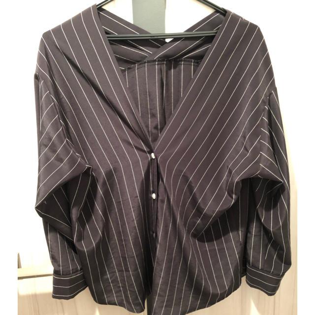 Noble(ノーブル)のNOBLE ランダムストライプカラーレスシャツ レディースのトップス(シャツ/ブラウス(長袖/七分))の商品写真