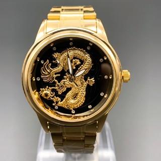 金龍 腕時計 最新モデル腕時計 腕時計 メンズウォッチ ゴールドウォッチ 金(腕時計(アナログ))