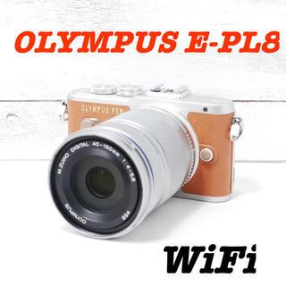 OLYMPUS - ❤️望遠レンズセット❤️可愛いブラウン❤️OLYMPUS E-PL8