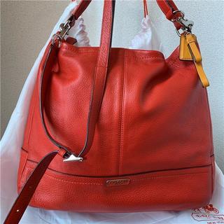 コーチ(COACH)の美品 COACH 約6.5万円 2way大型本革バッグ(ショルダーバッグ)