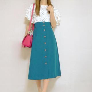 ジーユー(GU)のGU フロントボタンスカート(ロングスカート)