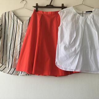 ロペピクニック(Rope' Picnic)の3点セット コーデ売り スカート ブラウス ノースリーブ トップス 通勤コーデ♡(セット/コーデ)