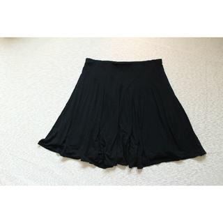 ラルフローレン(Ralph Lauren)のK319★ラルフローレン大きいサイズ XL 2L スカート フレアー黒ゆったり(ひざ丈スカート)