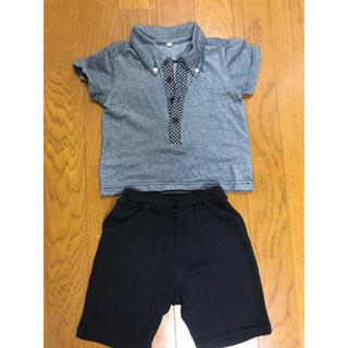 ニシマツヤ(西松屋)の男の子 夏用 半袖 フォーマル 90センチ(ドレス/フォーマル)