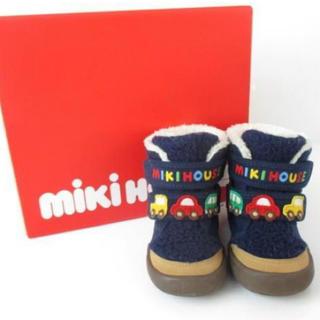 ミキハウス(mikihouse)のミキハウス ブーツ ネイビー 箱付き 14cm(ブーツ)
