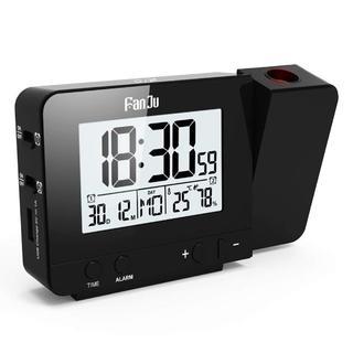 投影時計 投影アラームクロック USB充電器ポート