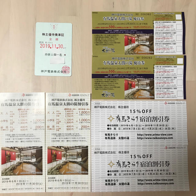 神戸電鉄株主優待乗車証 チケットの乗車券/交通券(鉄道乗車券)の商品写真