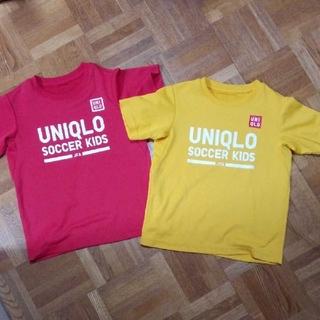 UNIQLO - ユニクロ サッカーTシャツ 2枚組