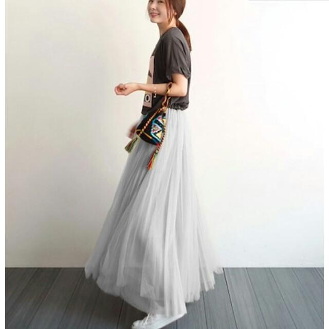 titivate(ティティベイト)の~新品 チュール スカート ~レース レディースのスカート(ロングスカート)の商品写真