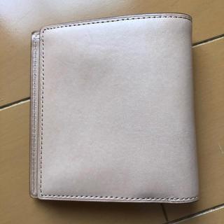 ムジルシリョウヒン(MUJI (無印良品))の無印良品 ヌメ革 レザー 二つ折り財布 札入れ カード入れ コインケース(財布)
