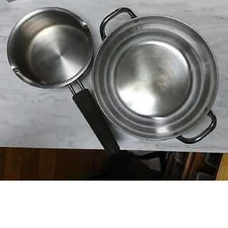 MUJI (無印良品) - 無印良品 ステンレスミルクパン&鍋