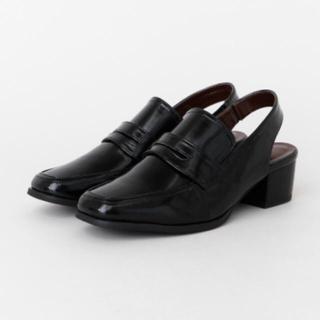 アーバンリサーチ(URBAN RESEARCH)の新品☆URBAN  RESARCH バックストラップスリッポン(ローファー/革靴)
