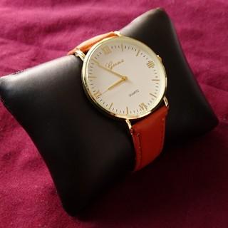 【新品】ダニエルウェリントンが好きな方 キャメル/ホワイトゴールド (腕時計(アナログ))