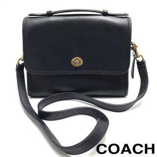 コーチ(COACH)のCOACH オールドコーチ バッグ レザー ショルダーバッグ ブルー シンプル(ショルダーバッグ)