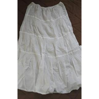 ジーユー(GU)のGU 白レース スカート(ロングスカート)