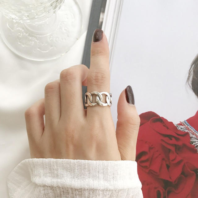 TODAYFUL(トゥデイフル)のsilver925 シルバーリング  チェーン 鎖 リング 極太 レディースのアクセサリー(リング(指輪))の商品写真