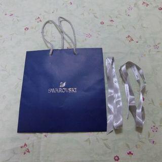 スワロフスキー(SWAROVSKI)のスワロフスキー紙袋とリボン2本(ショップ袋)