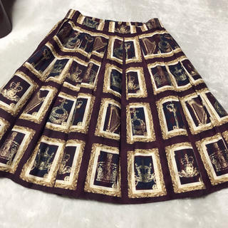 ジェーンマープル(JaneMarple)のJane marple Precious frames タックスカート (ひざ丈スカート)