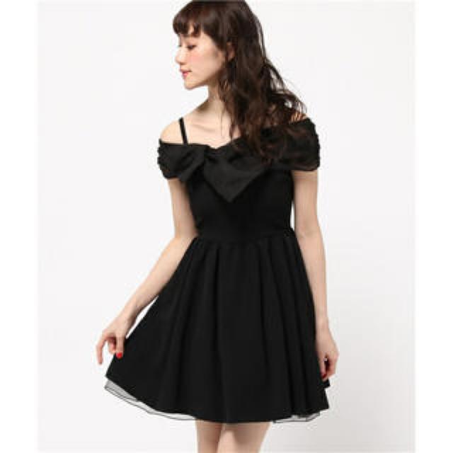 Lily Brown(リリーブラウン)のLily Brown オーガンジーリボンドレス レディースのフォーマル/ドレス(ミディアムドレス)の商品写真
