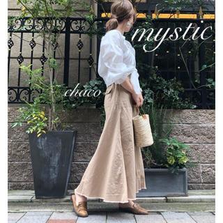 mystic - 新作♡¥10260【mystic】チノロングスカート  マキシスカート