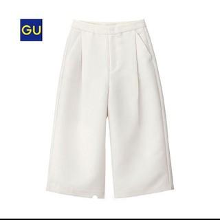 ジーユー(GU)のgu ガウチョ パンツ ワイド ホワイト(その他)