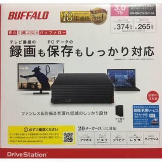 BUFFALO 外付けHDD 3TB 新品未使用 HD-NRLD3.0U3-BA