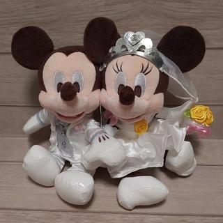 Disney - ミッキー &ミニー ウェルカムスペース☆ブライダル ペアぬいぐるみ ウェディング