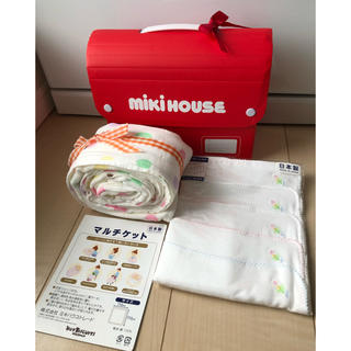 ミキハウス(mikihouse)の新品 【ミキハウス】おくるみ・ガーゼハンカチ5枚(その他)