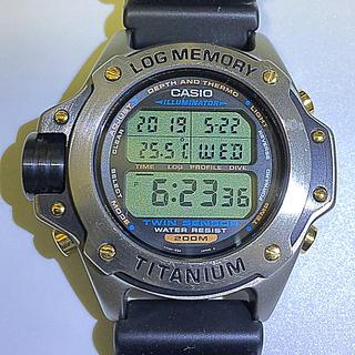 カシオ(CASIO)の特価❗️レア カシオ チタン潜水王 ダイバー(腕時計(デジタル))