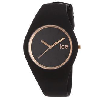 アイスウォッチ(ice watch)の[アイスウォッチ]腕時計 34mm ブラック×ローズゴールド (腕時計(アナログ))